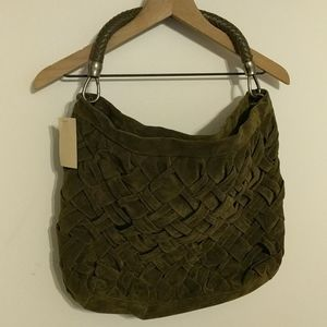 Coldwater Creek Green Weave Shoulder Purse - NWT